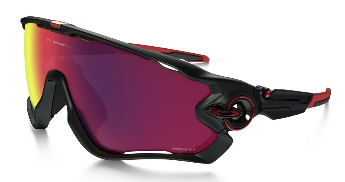 Oakley Jawbreaker Matte Black, Glasfarbe: Prizm Road (Sonnenbrille)