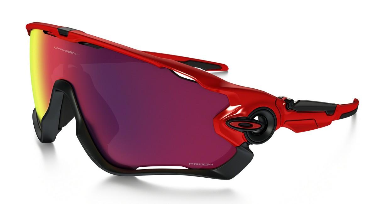 Oakley Jawbreaker Redline, Glasfarbe: Prizm Road (Sonnenbrille)