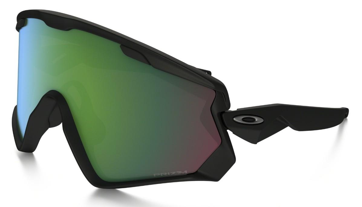 Oakley Wind Jacket 2.0 Matte Black, Glasfarbe: Prizm Jade Iridium ...